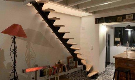 Escalier Acier et bois Cusset